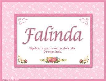 Falinda - Significado y origen