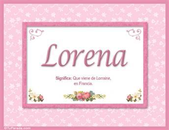 Lorena - Significado y origen
