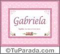 Gabriela - Significado y origen