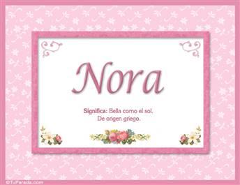 Nora - Significado y origen