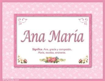 Ana María  - Significado y origen