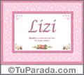Lizi - Significado y origen
