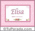 Elisa - Significado y origen