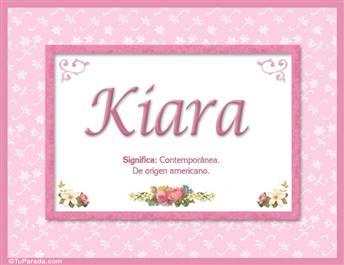 Kiara - Significado y origen