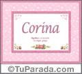 Corina - Significado y origen