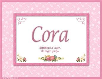 Cora - Significado y origen