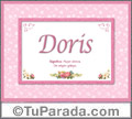 Doris - Significado y origen