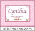 Cynthia - Significado y origen