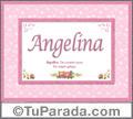 Angelina - Significado y origen