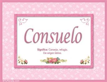 Consuelo - Significado y origen