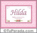 Hilda, nombre, significado y origen de nombres