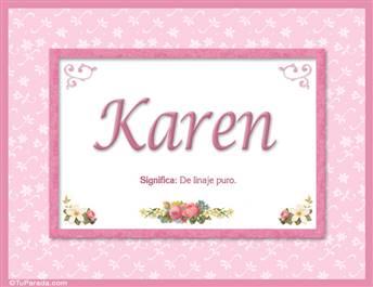 Karen, nombre, significado y origen de nombres