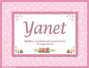 Yanet, nombre, significado y origen de nombres