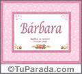 Bárbara, nombre, significado y origen de nombres