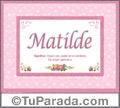Matilde, nombre, significado y origen de nombres