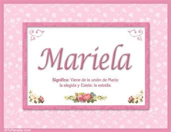 Mariela, nombre, significado y origen de nombres