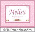 Melisa, nombre, significado y origen de nombres
