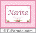 Marina, nombre, significado y origen de nombres