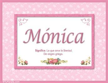 Mónica, nombre, significado y origen de nombres