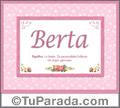 Berta, nombre, significado y origen de nombres