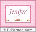 Jenifer, nombre, significado y origen de nombres