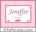 Jeniffer, nombre, significado y origen de nombres
