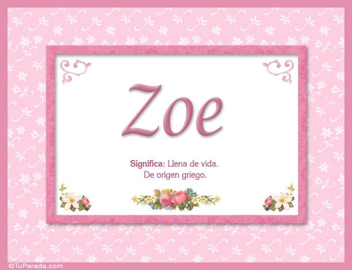 Resultado de imagen de zoe significado del nombre