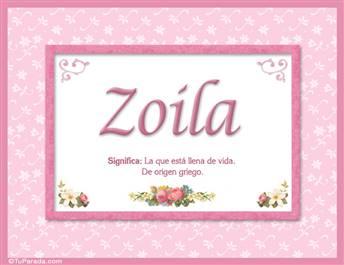 Zoila, nombre, significado y origen de nombres