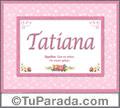 Tatiana, nombre, significado y origen de nombres