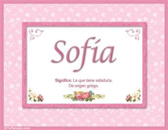 Sofía, nombre, significado y origen de nombres