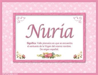 Nuria, nombre, significado y origen de nombres
