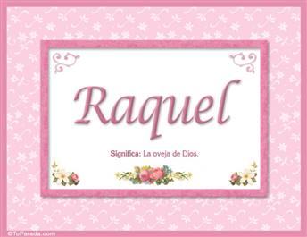 Raquel, nombre, significado y origen de nombres