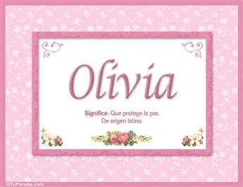 Olivia, nombre, significado y origen de nombres