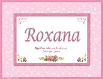 Roxana, nombre, significado y origen de nombres
