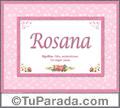 Rosana, nombre, significado y origen de nombres