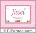 Jissel, nombre, significado y origen de nombres