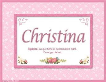 Christina, nombre, significado y origen de nombres