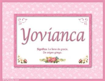 Yovianca, nombre, significado y origen de nombres