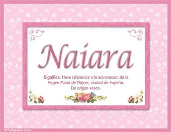 Naiara, nombre, significado y origen de nombres