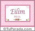 Eilim, nombre, significado y origen de nombres