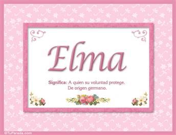 Elma, nombre, significado y origen de nombres