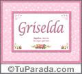 Griselda, nombre, significado y origen de nombres