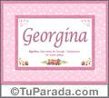 Georgina, nombre, significado y origen de nombres
