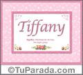 Tiffany, nombre, significado y origen de nombres