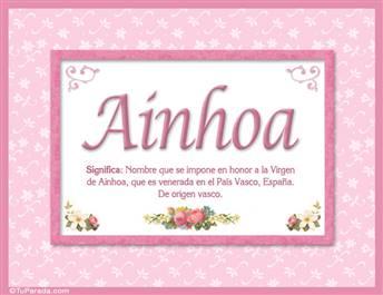Ainhoa, nombre, significado y origen de nombres