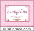 Evangelina, nombre, significado y origen de nombres