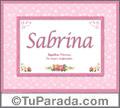 Sabrina, nombre, significado y origen de nombres