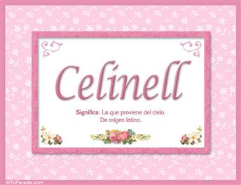 Celinell, nombre, significado y origen de nombres