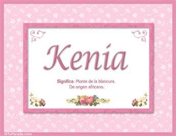 Kenia, nombre, significado y origen de nombres