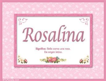 Rosalina, nombre, significado y origen de nombres